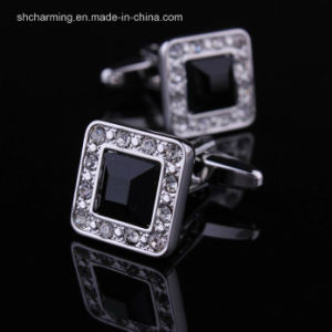 Vintage Crystal Groom Best Man Shirt Cufflink