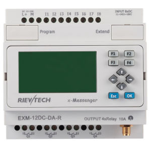 GSM/SMS/GPRS PLC, Ideal Solution for Remote Control& Monitoring &Alarming Applications (EXM-12DC-DA-R-HMI) pictures & photos