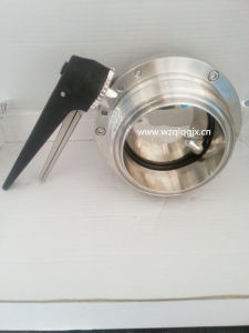 Food Grade Stainless Steel Threated Butterfly Valve pictures & photos
