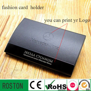 Fashion Card Holder with Leather for Christmas Gift