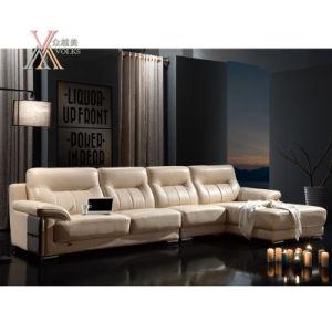 Leather Sofa with Chrome Leg (833)
