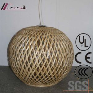 Chinese Style Hotel Decoeative Natural Oak Round Wood Pendant Lamp pictures & photos