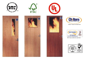 Timber Fire Door/Wooden Fire Rated Doors with British Certificate, UL Certified pictures & photos