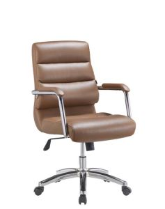 Single Back Board Full PU High Back Executive Office Chair pictures & photos