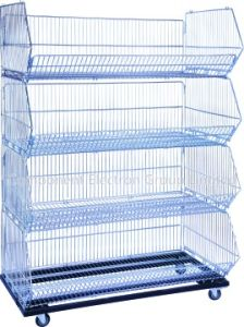 Supermarket Storage Cage Folding Stacking Cage Metal Stacking Cage pictures & photos