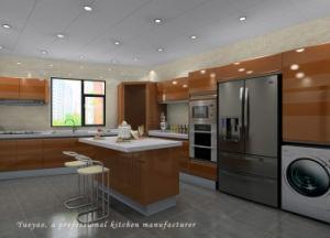Round High Glossy Lacquer Modern Kitchen Furniture/Kitchen Cabinets (S043)