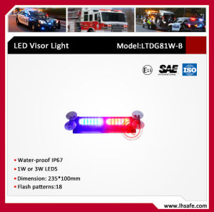 Window Mounted LED Warning Visor Light (LTDG81W-B) pictures & photos