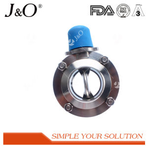 Sanitary Welding Butterfly Valve with Muti-Position Plastic Handle pictures & photos