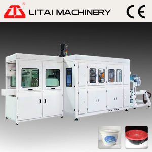 Automatic Plastic Lid Cup Bowl Thermoforming Stacking Machine pictures & photos