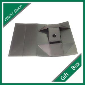 Custom Black Matt Lamination Foldable Gift Box pictures & photos