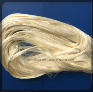 High Quality Faint Yellow PVA Cutting Fiber 3mm-19mm pictures & photos