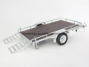 8X5 Ride on Box Trailer with Mesh Ramp pictures & photos