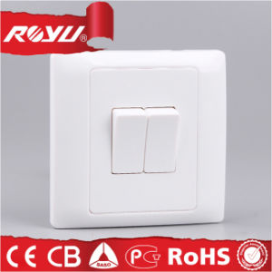 2gang Square Small Button Wall Switch Double Switch pictures & photos