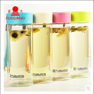 Fuguang High Quality G1311-280 280ml Colorful Double Wall Glass Cup pictures & photos