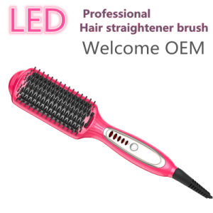 2016 New LED Paddle Hair Straightener Brush Comb pictures & photos