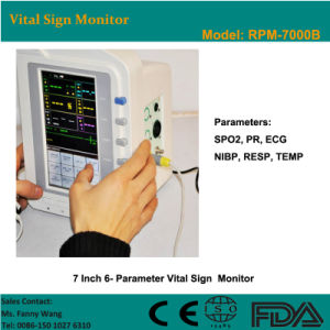 CE Approved 7-Inch 6-Parameter Touch Screen Patient Monitor (RPM-7000B) -Fanny pictures & photos