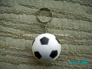 Customized New Design Hot Nice PU Football Keychain pictures & photos