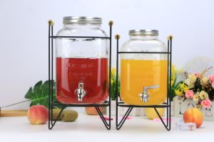 Hot Sell 4L/ 5L/8L Glass Drink Jar/Glass Water Dispenser with Tap pictures & photos