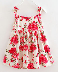 Cute Flower Kids Girl Dress in Children′s Clothes pictures & photos