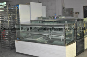Sliding Door Marble Based Display Cake Refrigerator Showcase with Ce pictures & photos