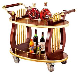 Harp Design Wooden Liquor Trolley for Restaurant and Hotel (C-90A) pictures & photos
