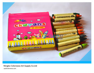 24 Colors 1.1*10cm Classic Non-Toxic Crayons for Students and Kids pictures & photos