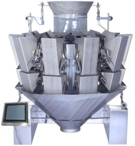 1.6L Hopper Dimple Plate Sticky Meat Feeder Multihead Weigher Jy-10hdt pictures & photos