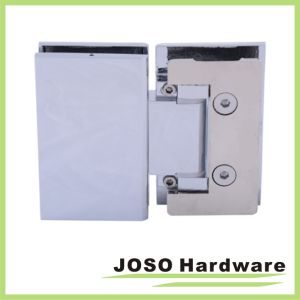 Polished Chrome Hidden Screw Adjustable 180degree Glass-to-Glass Hinge pictures & photos