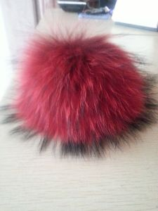 Dyeing Top Ball on Winter Beanies/Artificial Fur Balls for Hats/