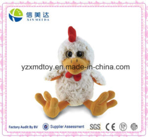 "9"" Super Soft Sitting Big Eyes Rooster Plush Toy pictures & photos"