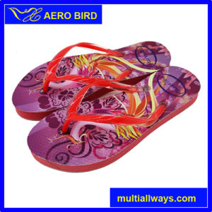 Colorful Flower Printing Design PE Fashion Slipper for Unisex pictures & photos