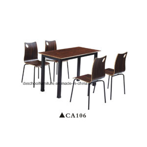 Modern Style Square Wooden Dining Table and Chair Set pictures & photos