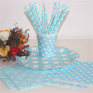 Eco-Friendly Colorful Polka Dots Paper Party Sets pictures & photos