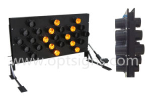 Optraffic Double Sided LED Flashing Vehicle Mounted Arrow Board pictures & photos