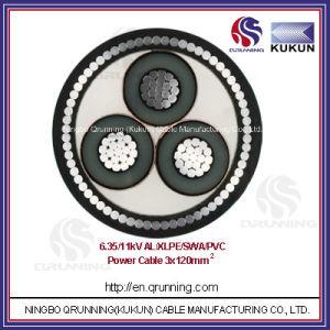 6.35/11kv Al/XLPE/Swa/PVC (or PE) Power Cable