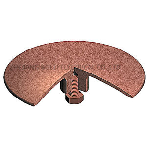 Brass Solid Circular System Copper Earthing Lightning Strike Pad pictures & photos