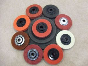 Plastic Backing Nonwoven Abrasive Disc pictures & photos