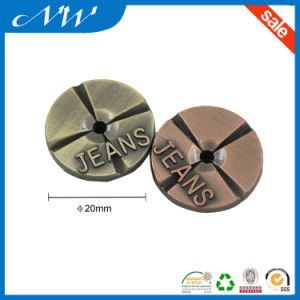 Classical 20mm Zinc Alloy Jeans Buttons Shank Button pictures & photos