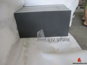 Honed Mongolian Black Granite Tile for Wall Cladding pictures & photos