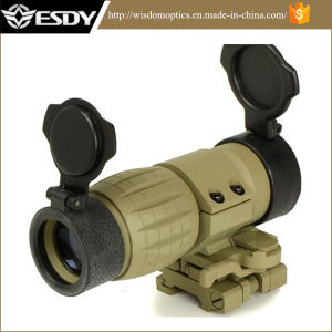 Tan Color Tactical 3x Magnifier Scope Sight with Flip Mount pictures & photos