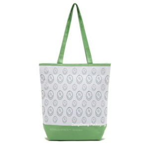 Elegant Cotton Fabric Lady Handbag/Shopper Bag
