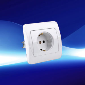 1 Gang European Wall Socket with Grounding