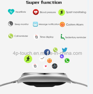Newest Bluetooth Circular Smart Bracelet with Heart Rate Minitor M7 pictures & photos