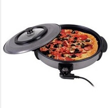 48cm Sized Half Glass Cover CE GS RoHS CB Approvaled 1500W Electric Pizza Maker