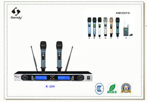Professional Conference Room UHF Wireless Microphone System K-104 pictures & photos