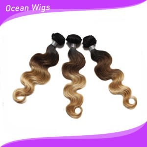 Ombre Color 100% European Human Virgin Hair Extension/Weft pictures & photos