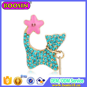 Enamel Animal Cat Zinc Alloy Jewelry Charm for Bracelet pictures & photos