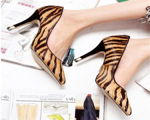 Zebra Sexy High Heel Sandals