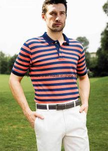 High Quality New Design Cotton Stripe Men Polo Shirt Men Clothes pictures & photos