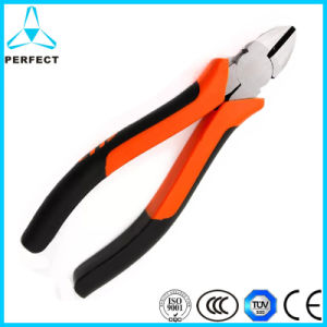 Cr-V Steel Polish Insulated Diagonal Pliers pictures & photos